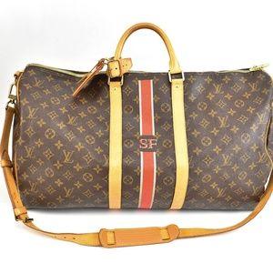 "LOUIS VUITTON Brown ""LV"" Logo, Travel Bag (r)"